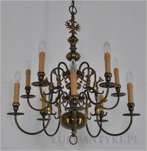 Modernistyczne Stare lampy wiszące, żyrandole mosiężne antyki - lampy sufitowe YP35