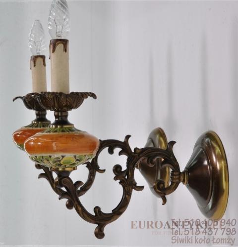Majolika 2 Stare Kinkiety Lampy Porcelanowe Do łazienki