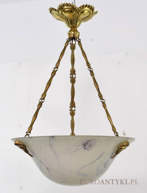 Wspaniały Stare lampy wiszące, żyrandole mosiężne antyki - lampy sufitowe SQ61