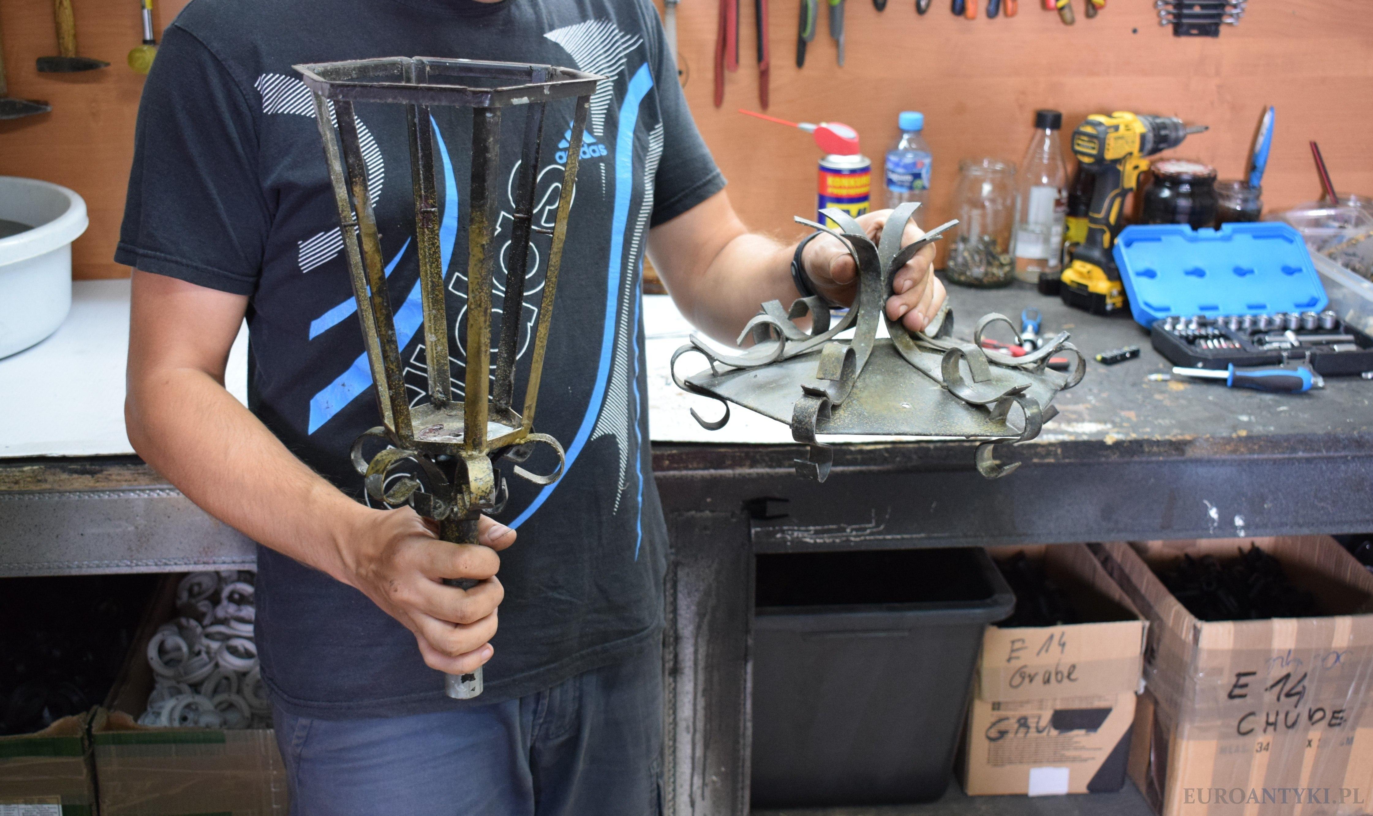 renowacja zabytkowych lamp