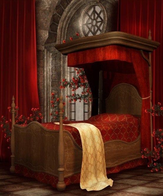 średniowieczne łoże
